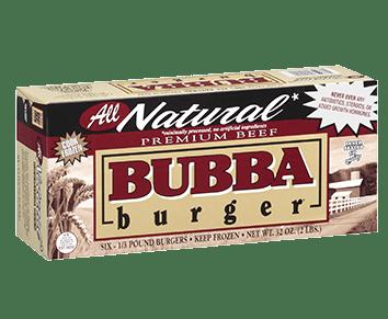 All Natural BUBBA burger
