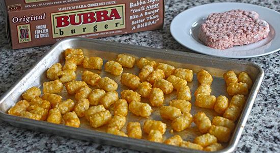Bake the Tots recipe bubba burger food best